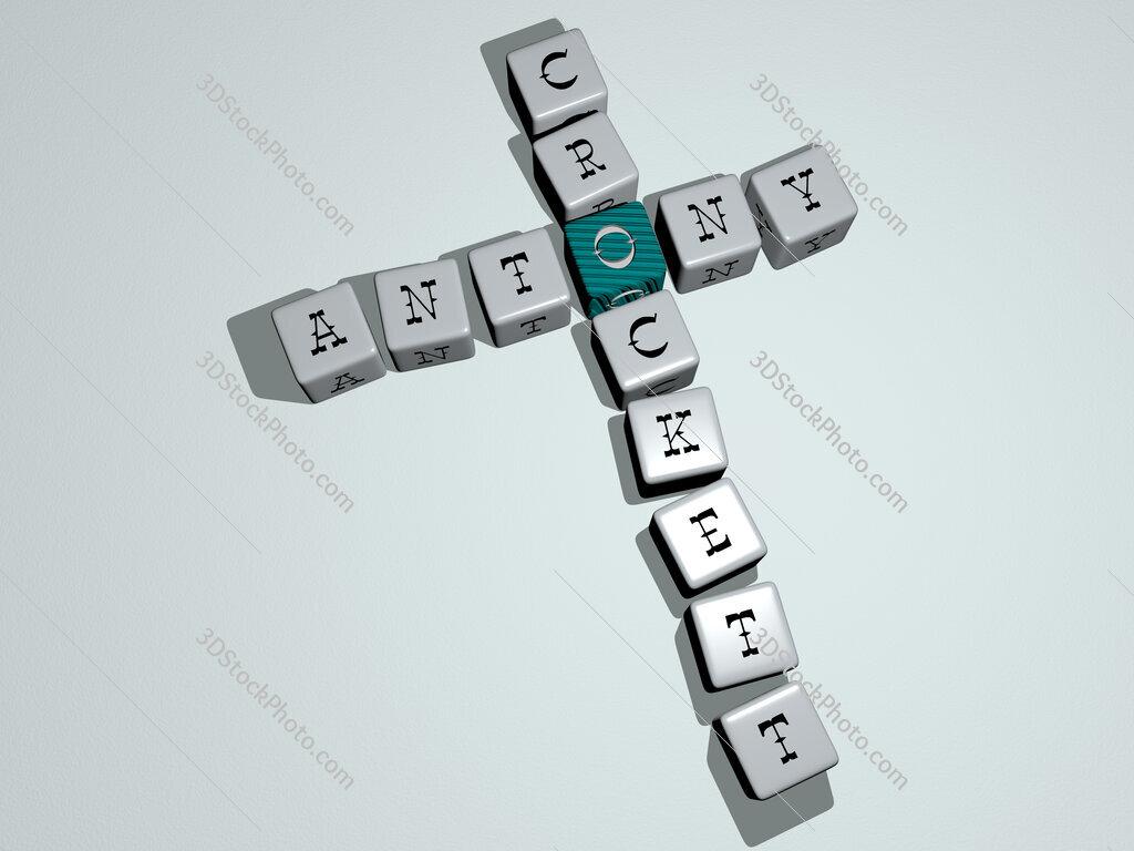 Antony Crockett crossword by cubic dice letters