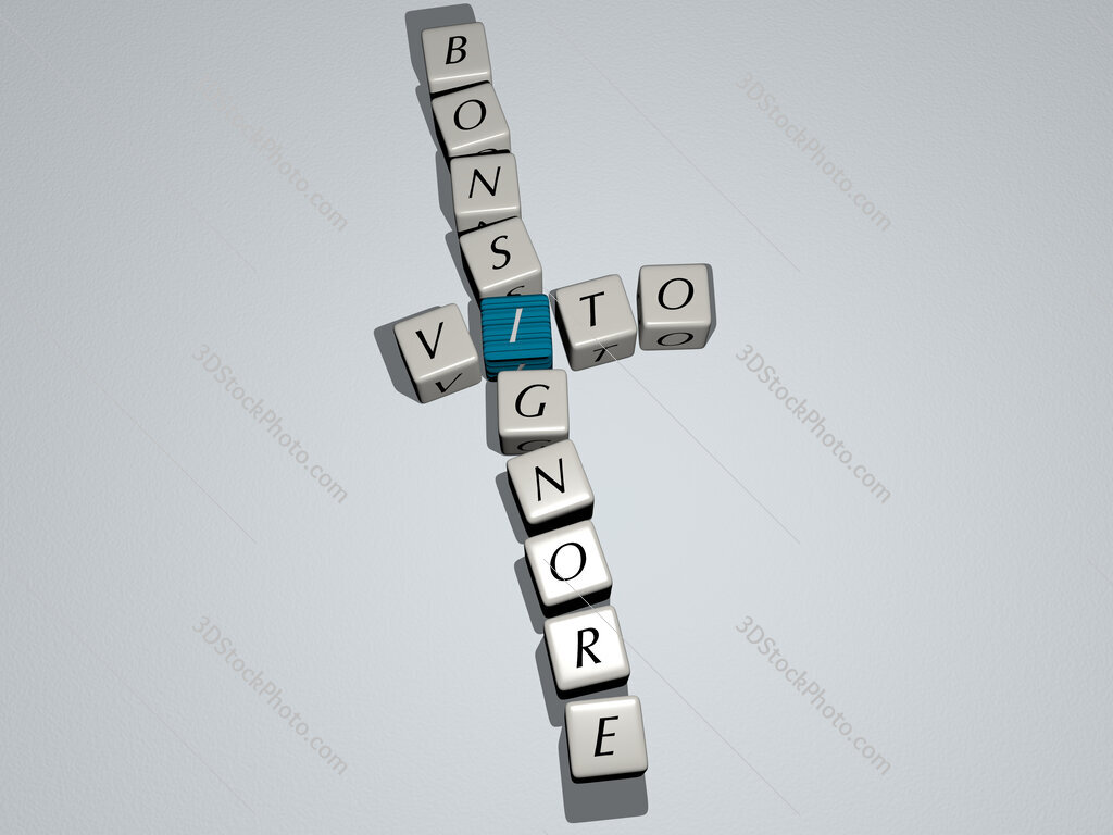 Vito Bonsignore crossword by cubic dice letters