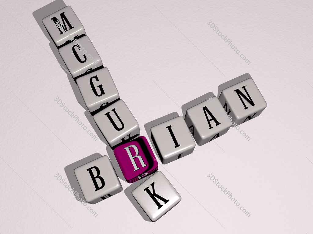 Brian McGurk crossword by cubic dice letters