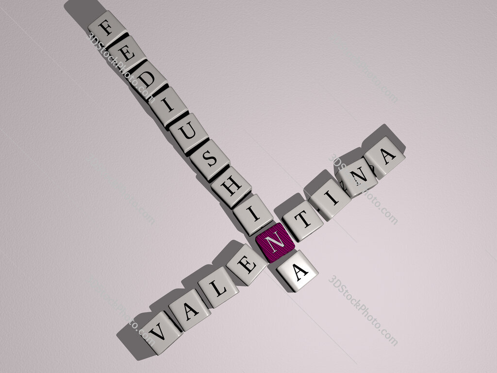 Valentina Fediushina crossword by cubic dice letters