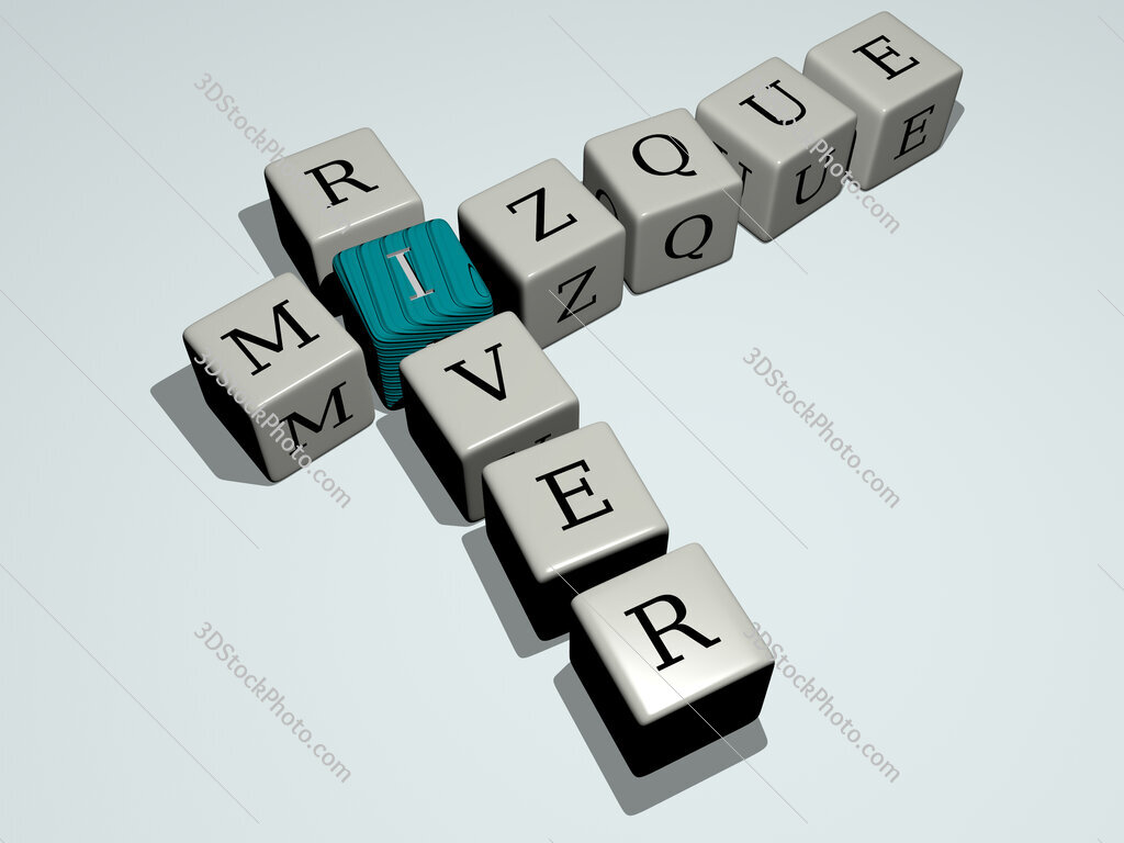 Mizque River crossword by cubic dice letters