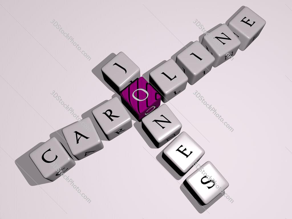 Caroline Jones crossword by cubic dice letters