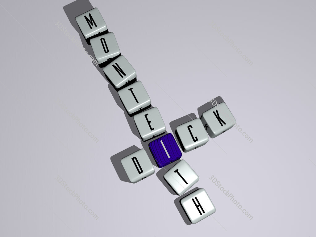Dick Monteith crossword by cubic dice letters