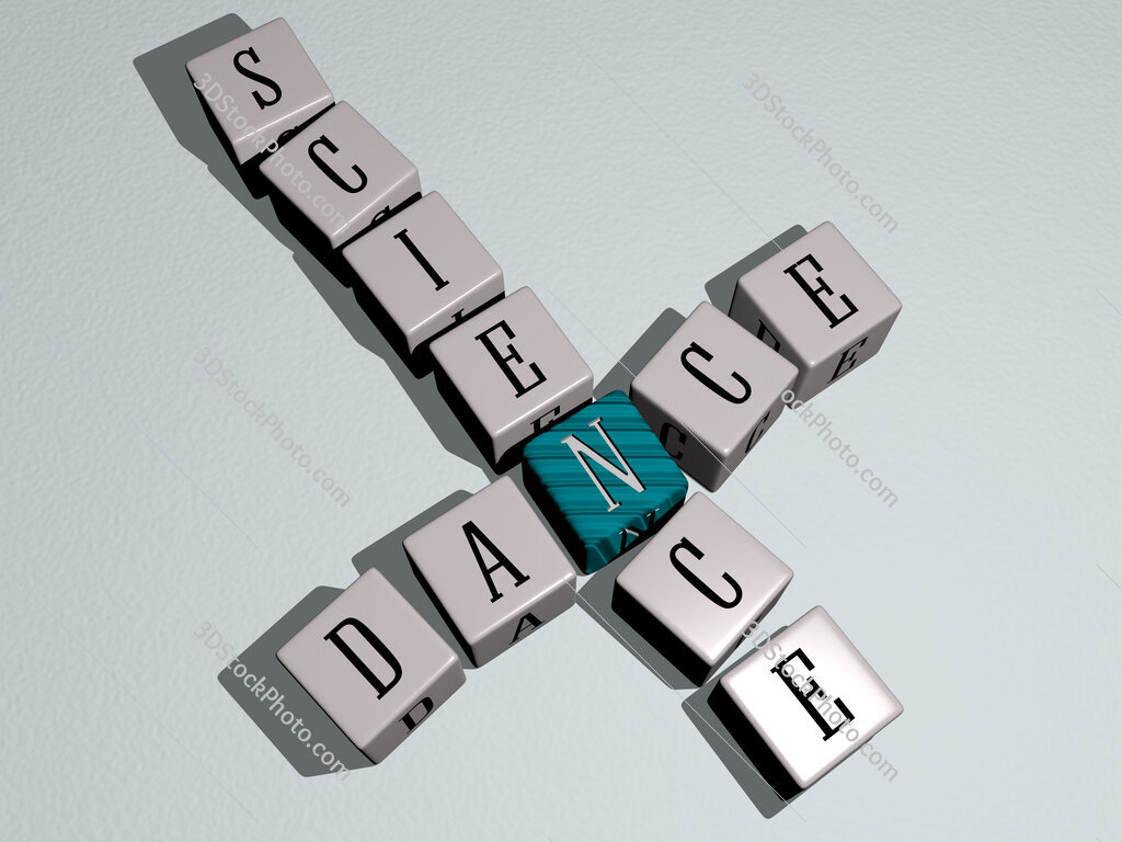 Dance science crossword by cubic dice letters