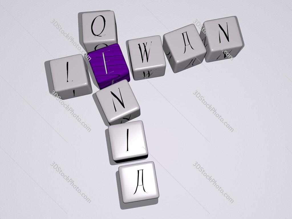 Lewan Qenia crossword by cubic dice letters