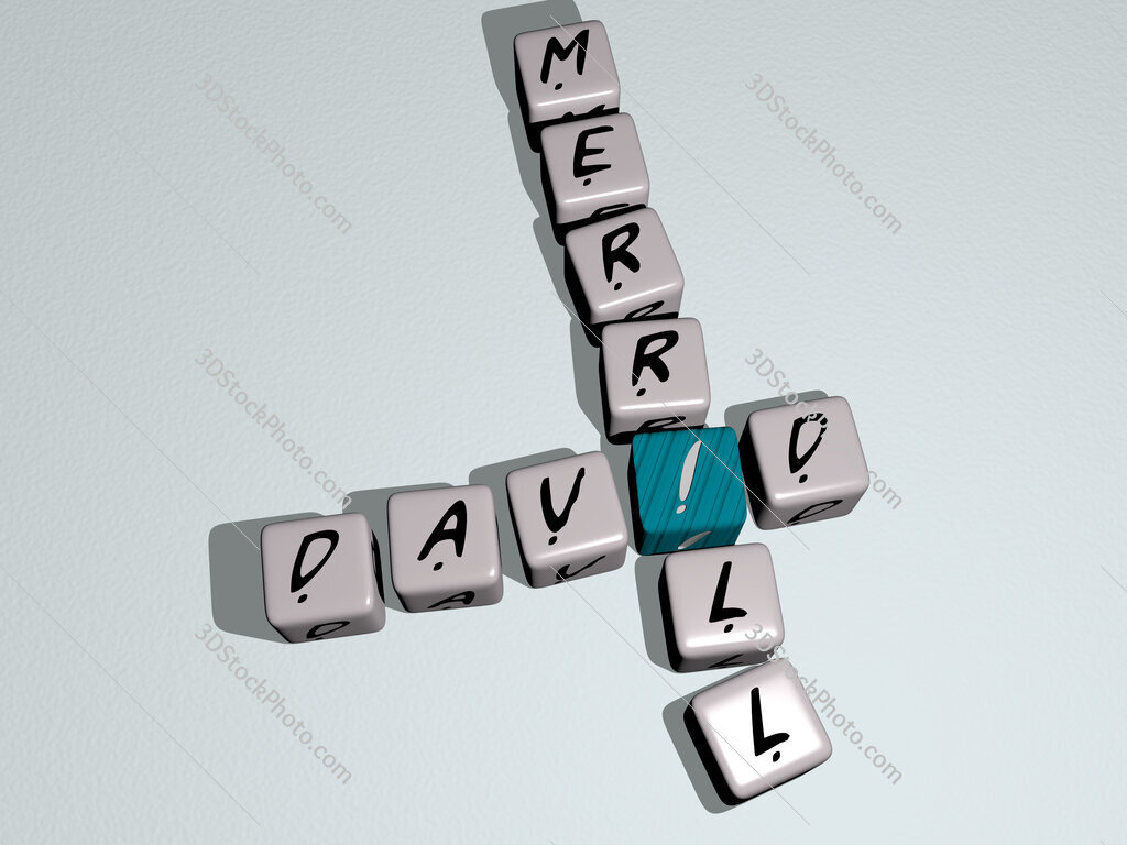 David Merrill crossword by cubic dice letters