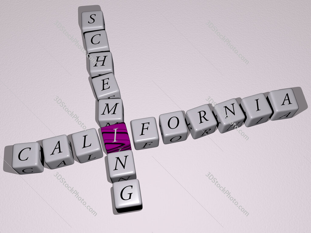 California Scheming crossword by cubic dice letters
