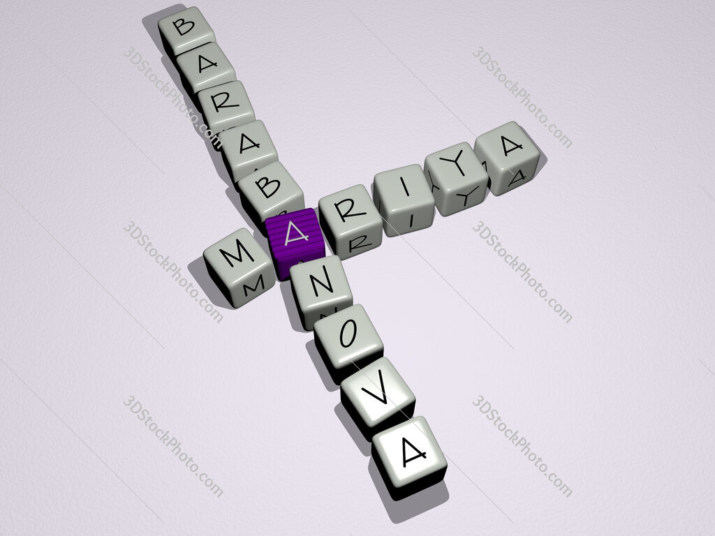 Mariya Barabanova crossword by cubic dice letters