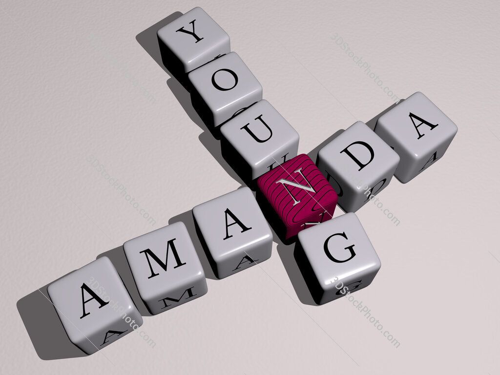 Amanda Young crossword by cubic dice letters