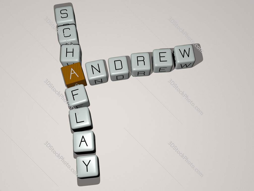 Andrew Schaflay crossword by cubic dice letters
