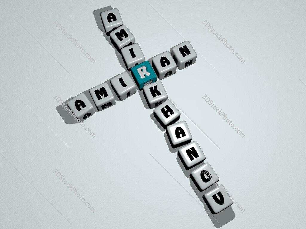 Amiran Amirkhanov crossword by cubic dice letters