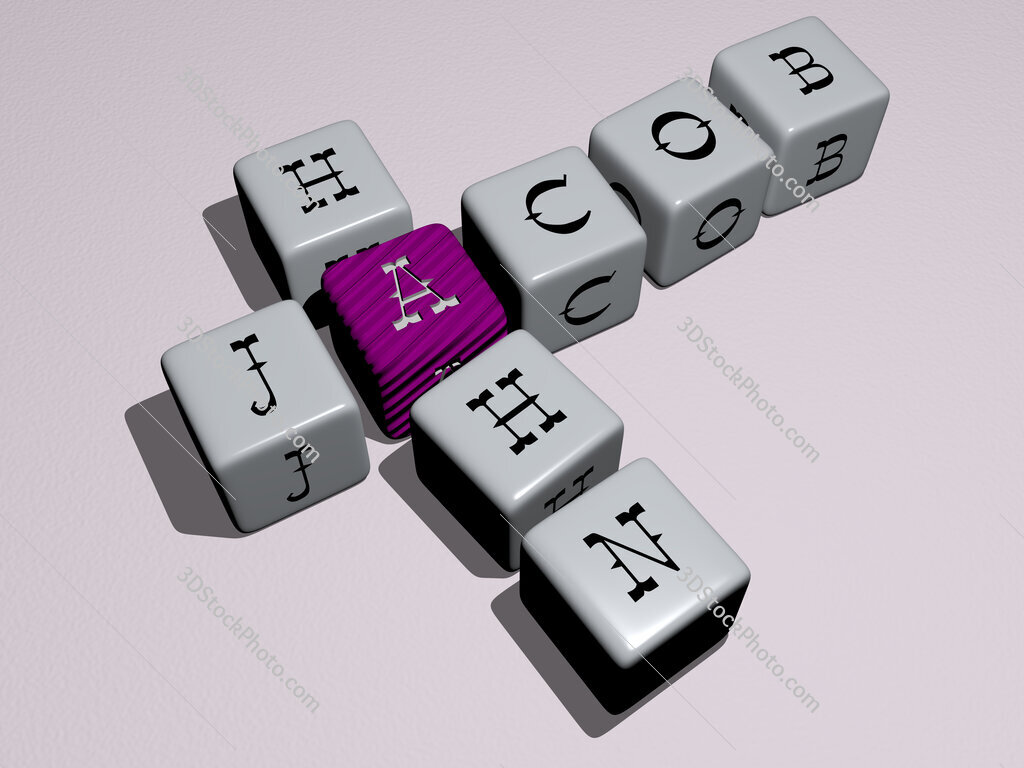 Jacob Hahn crossword by cubic dice letters