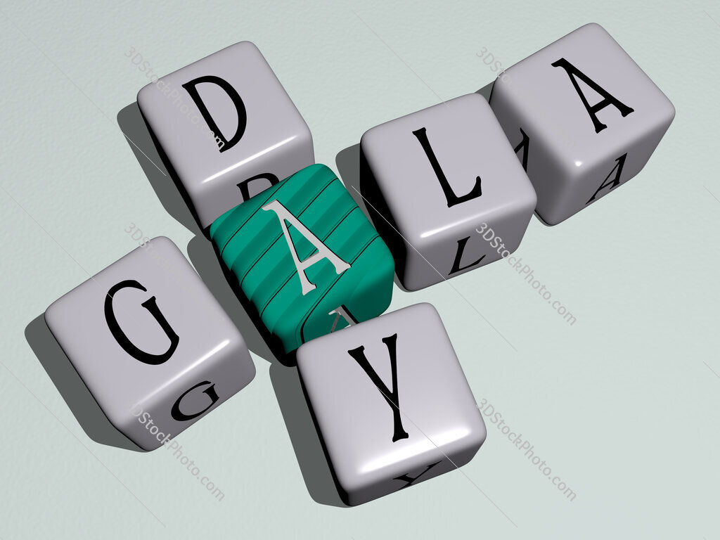 Gala Day crossword by cubic dice letters
