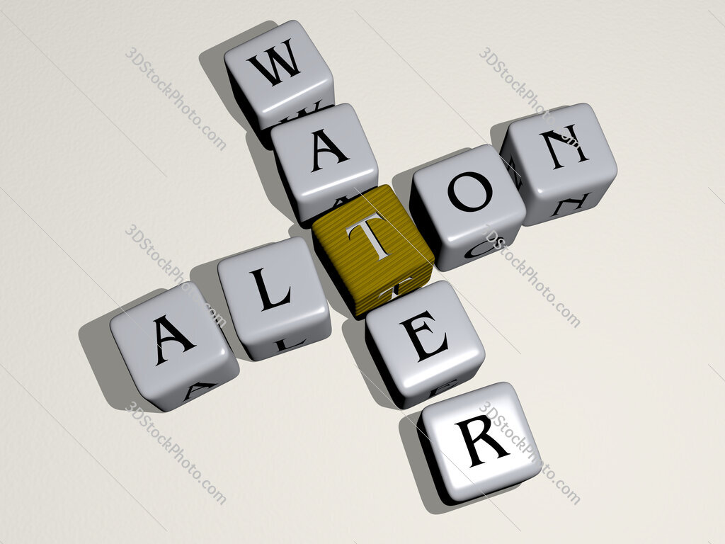 Alton Water crossword by cubic dice letters