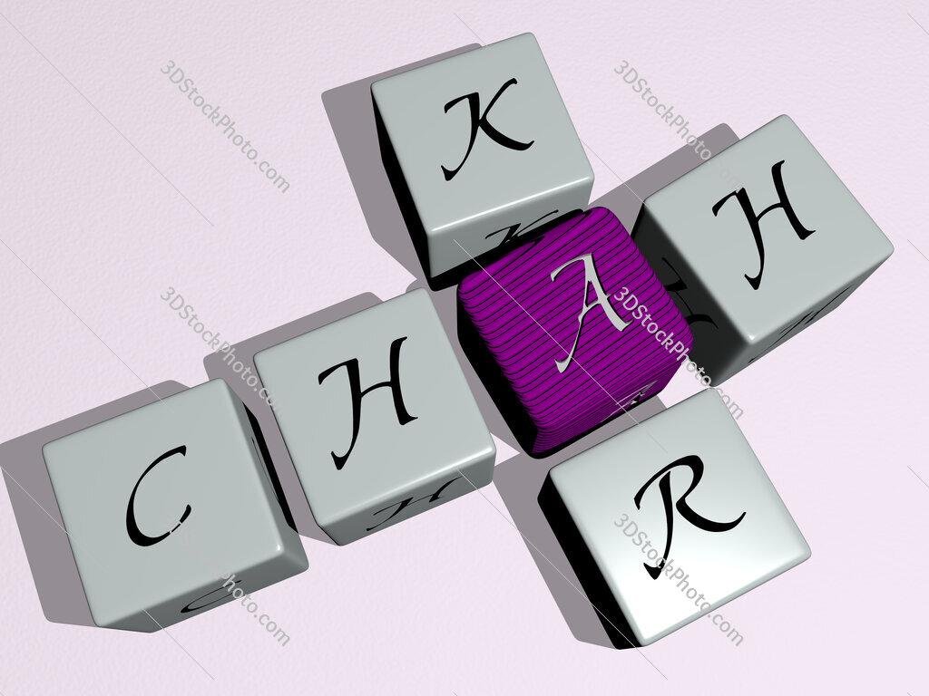 Chah Kar crossword by cubic dice letters
