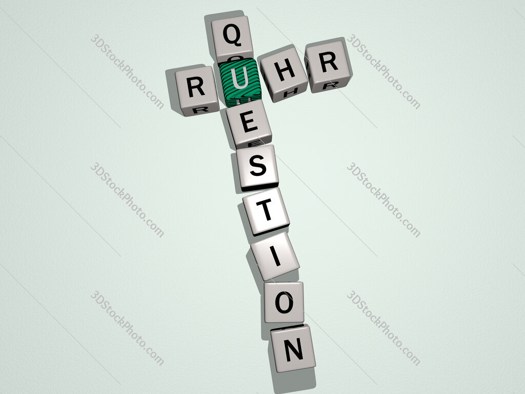 Ruhr Question crossword by cubic dice letters