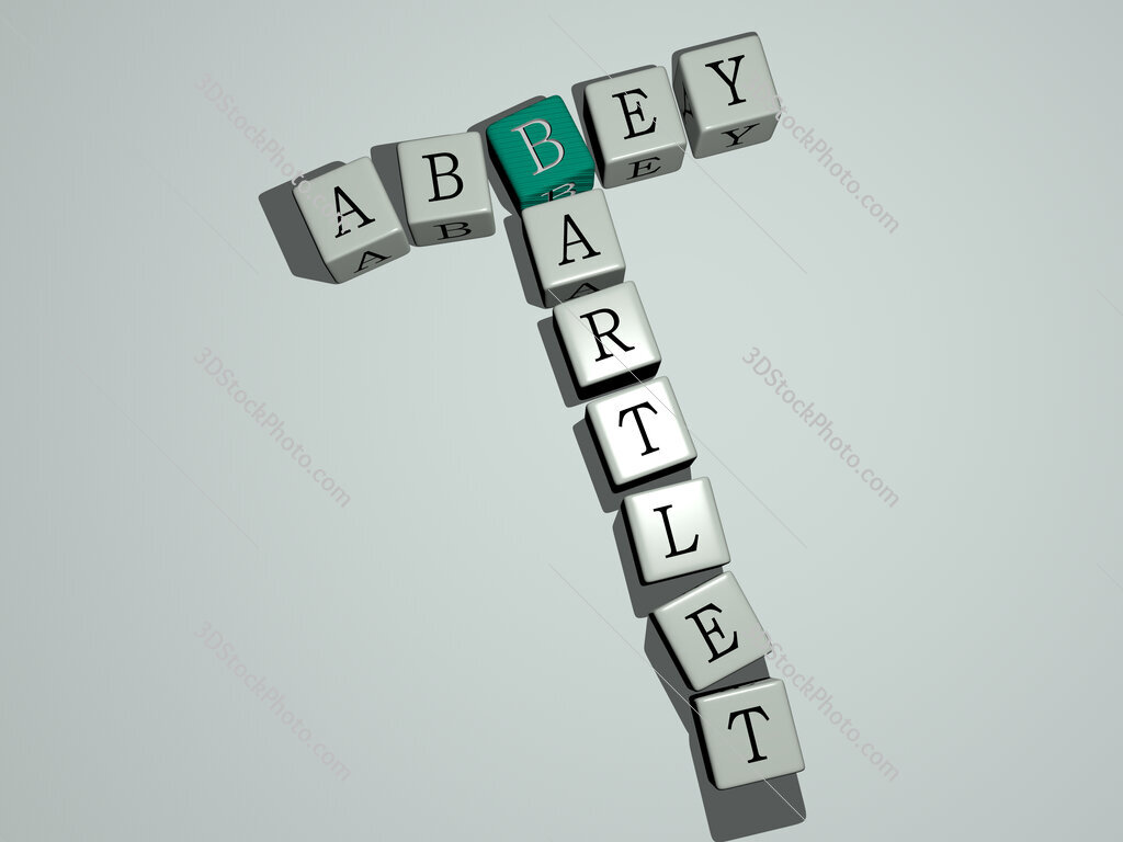 Abbey Bartlet crossword by cubic dice letters