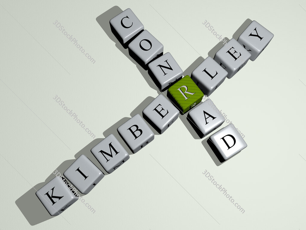Kimberley Conrad crossword by cubic dice letters