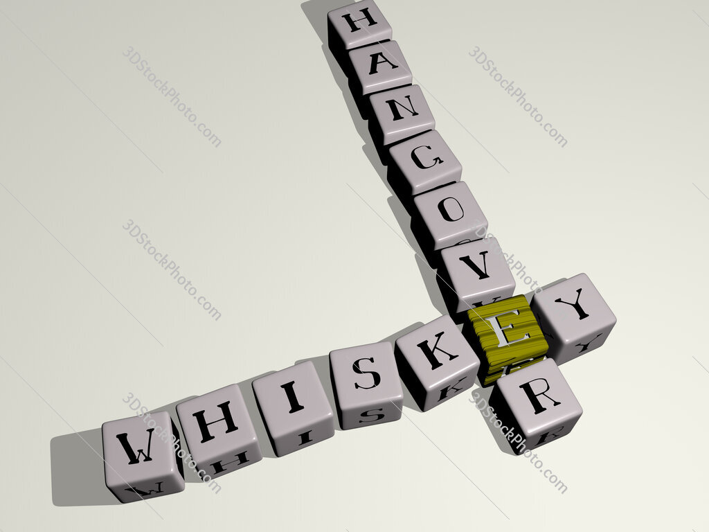 Whiskey Hangover crossword by cubic dice letters