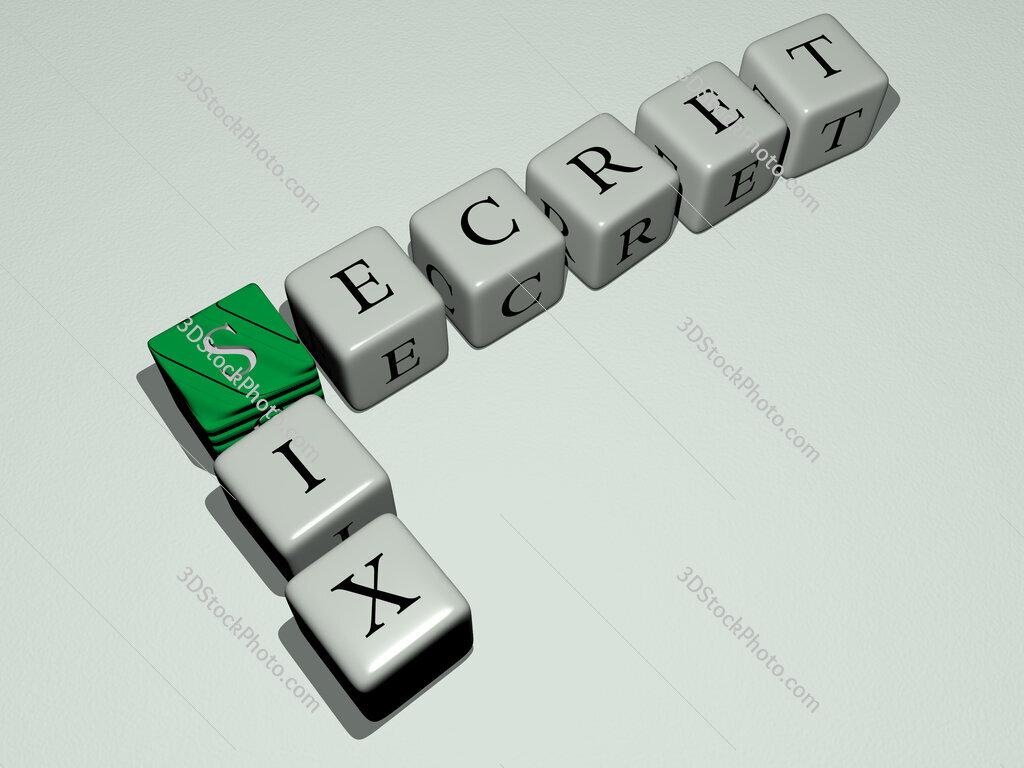 Secret Six crossword by cubic dice letters