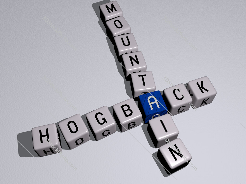 Hogback Mountain crossword by cubic dice letters