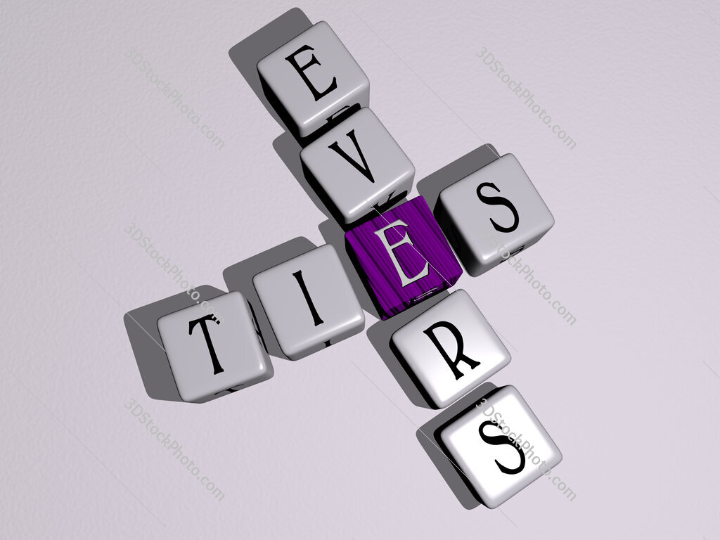 Ties Evers crossword by cubic dice letters