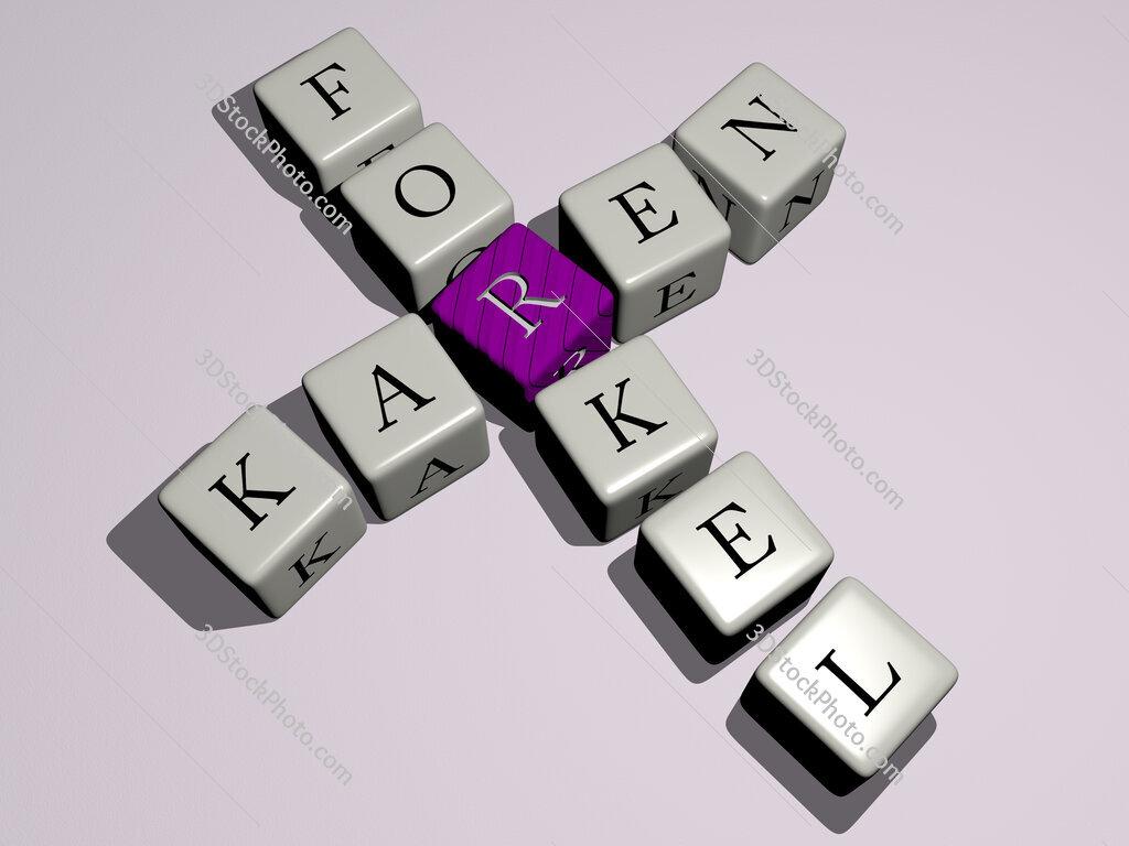 Karen Forkel crossword by cubic dice letters