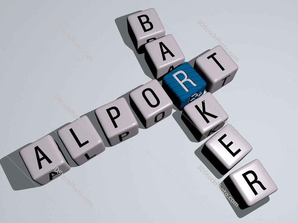 Alport Barker crossword by cubic dice letters