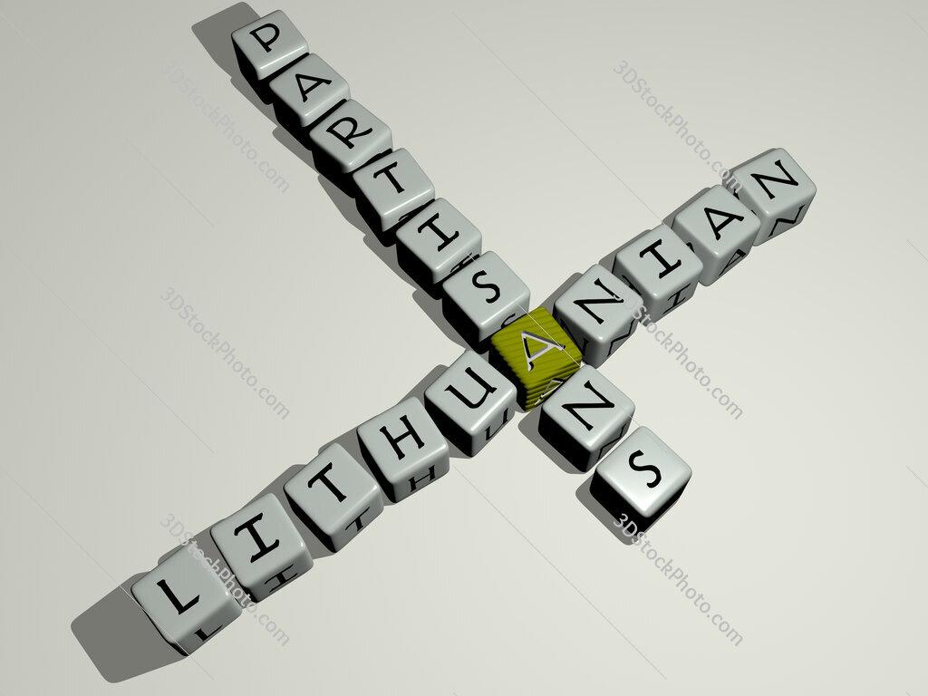Lithuanian partisans crossword by cubic dice letters