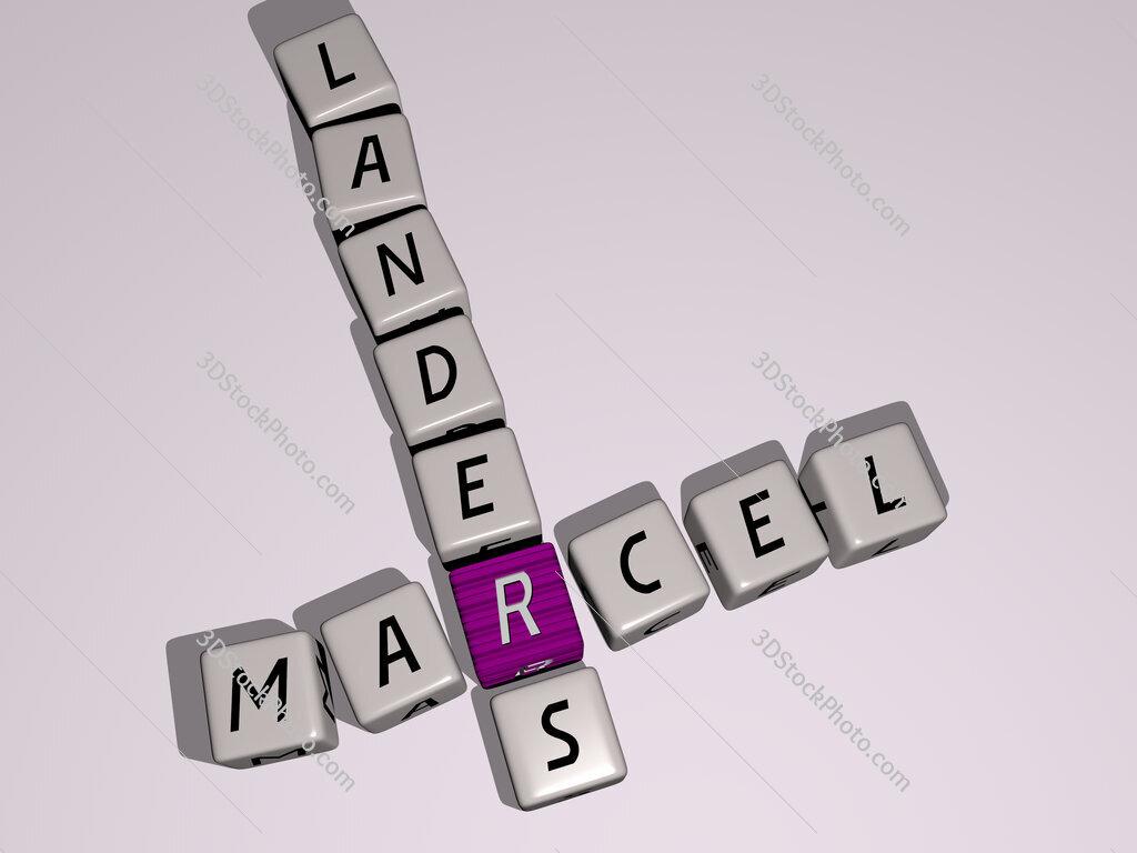 Marcel Landers crossword by cubic dice letters