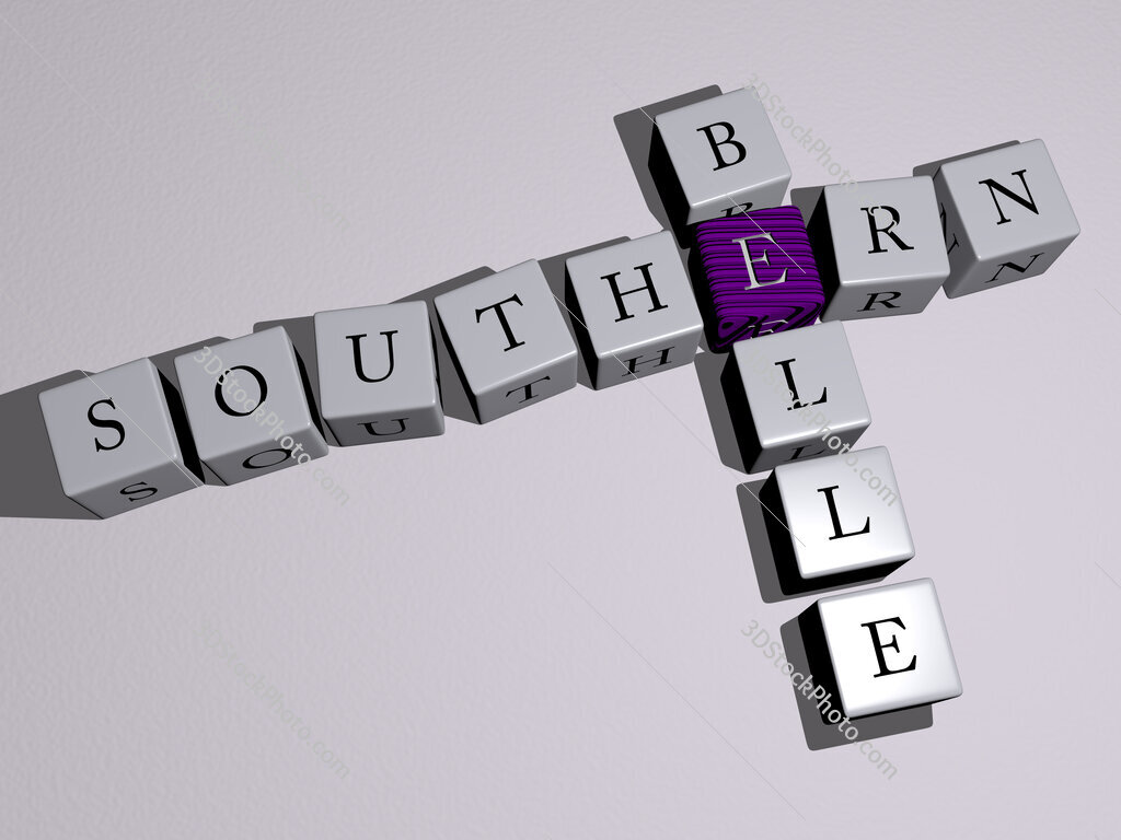 Southern belle crossword by cubic dice letters