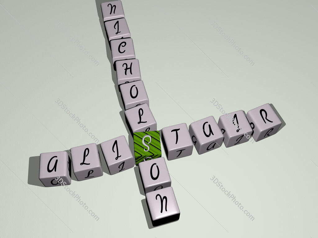 Alistair Nicholson crossword by cubic dice letters