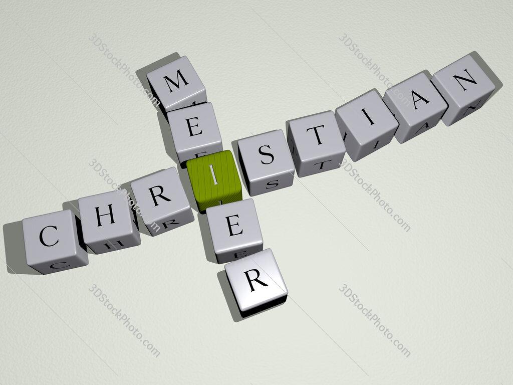 Christian Meier crossword by cubic dice letters