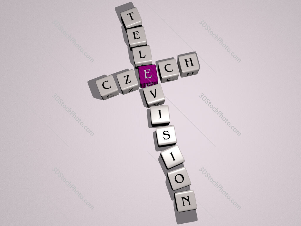 Czech television crossword by cubic dice letters