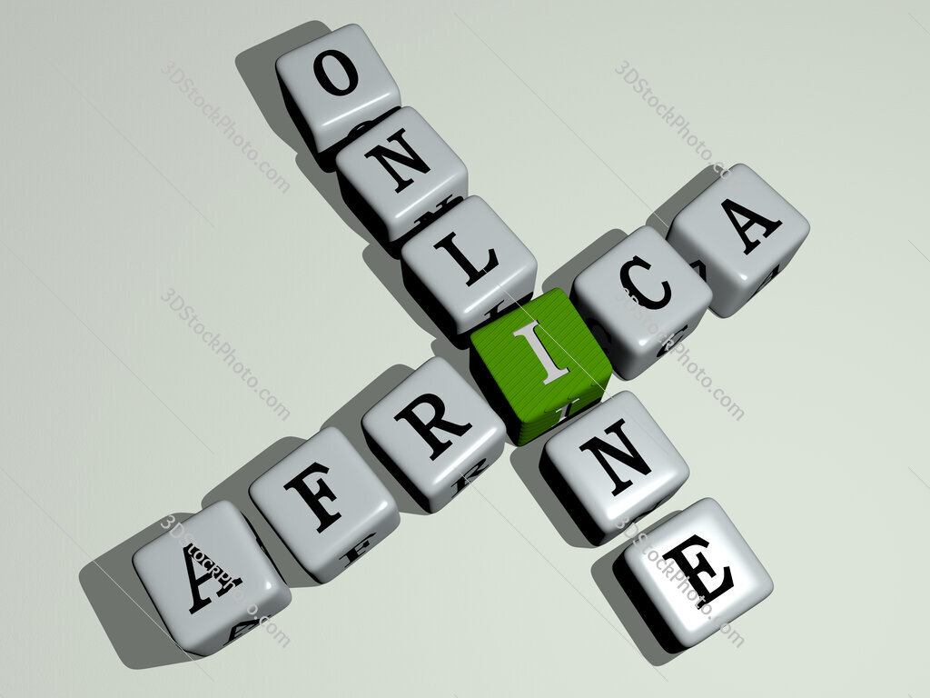 Africa Online crossword by cubic dice letters