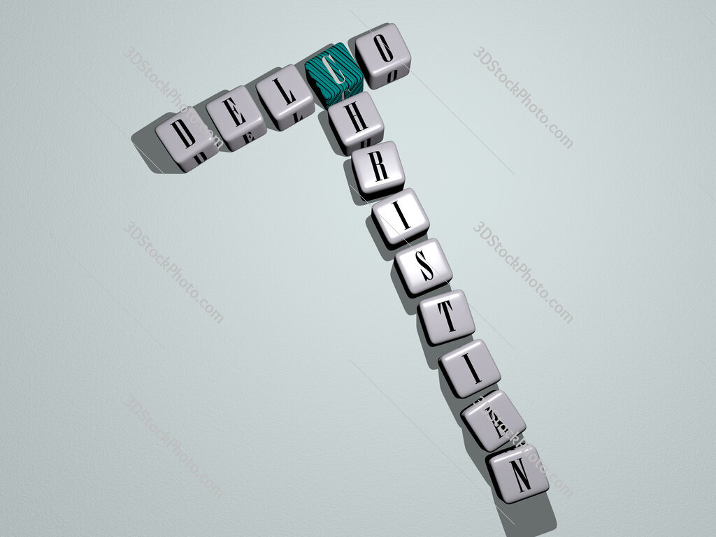 Delco Christian crossword by cubic dice letters