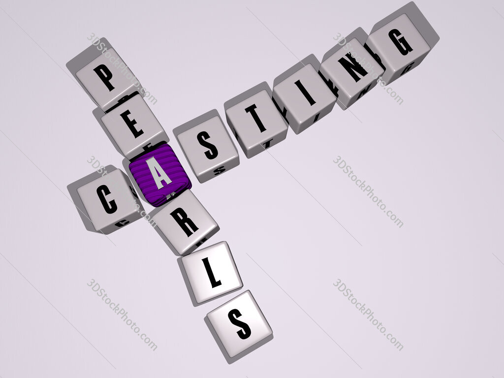 Casting Pearls crossword by cubic dice letters