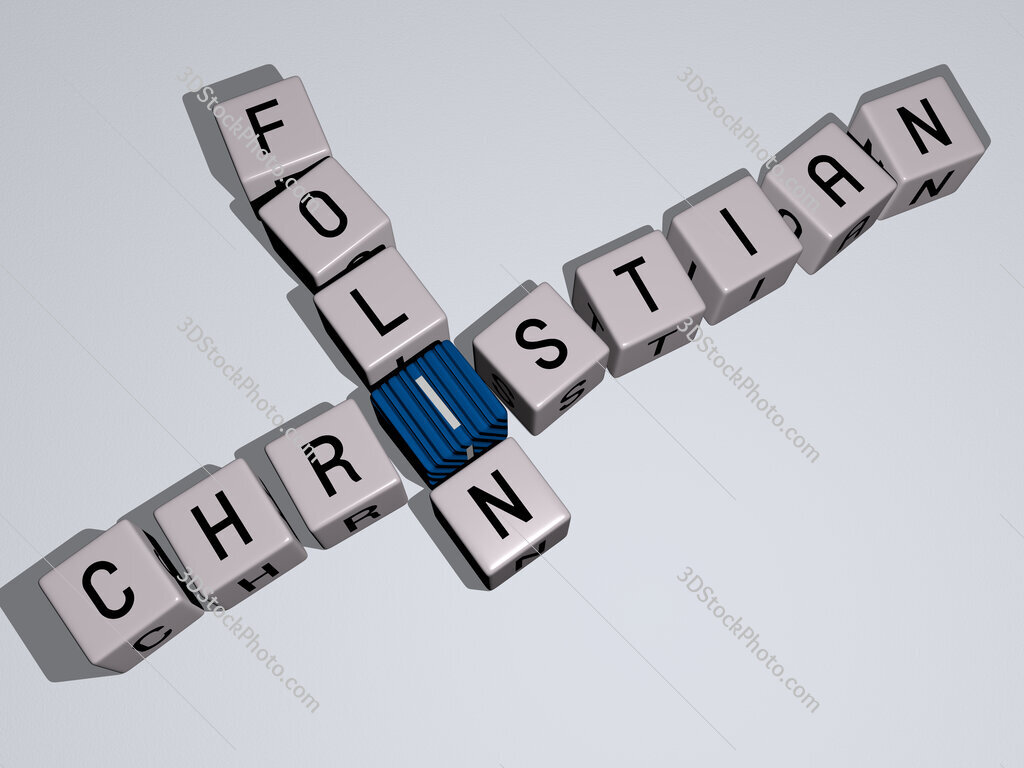 Christian Folin crossword by cubic dice letters