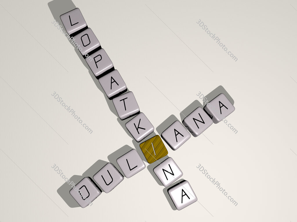 Ouliana Lopatkina crossword by cubic dice letters