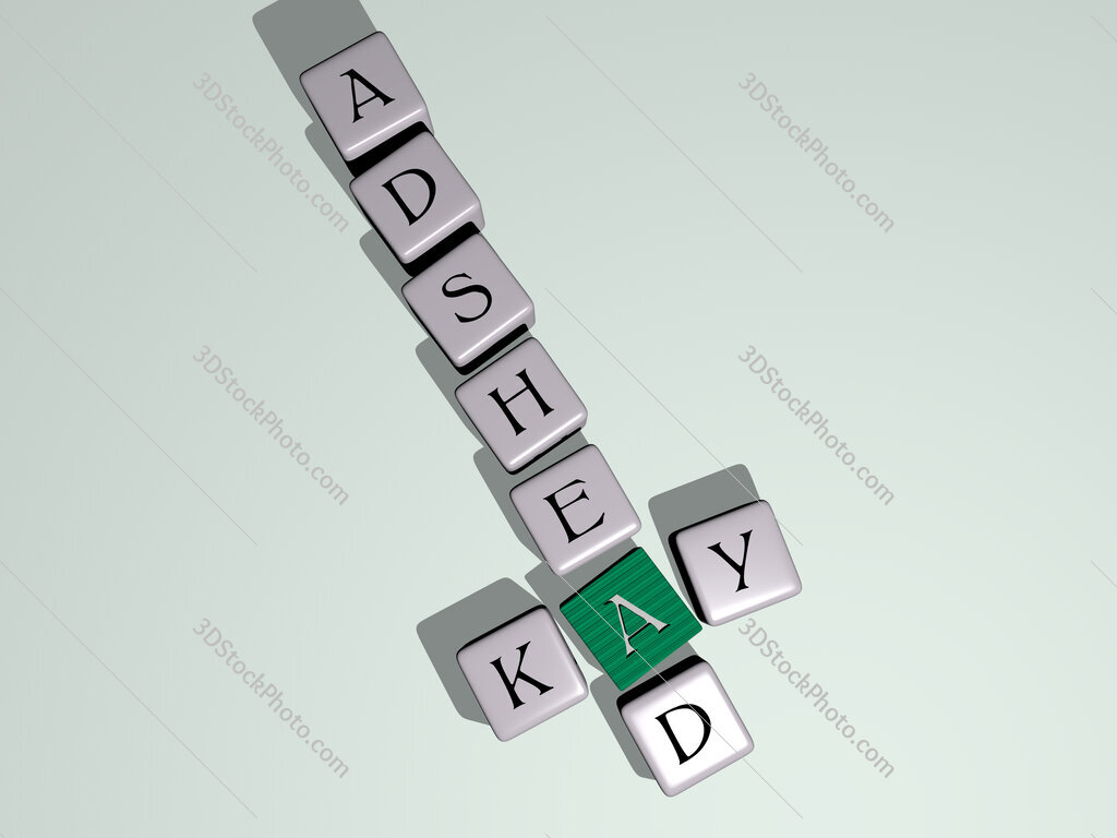 Kay Adshead crossword by cubic dice letters