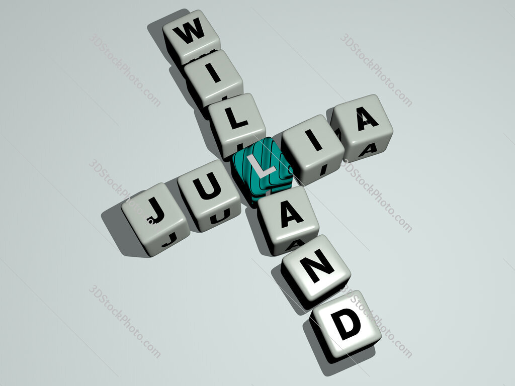 Julia Willand crossword by cubic dice letters