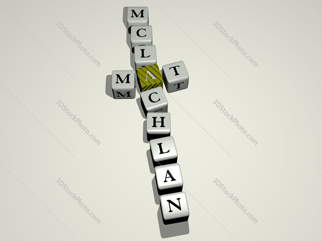 Mat McLachlan crossword by cubic dice letters