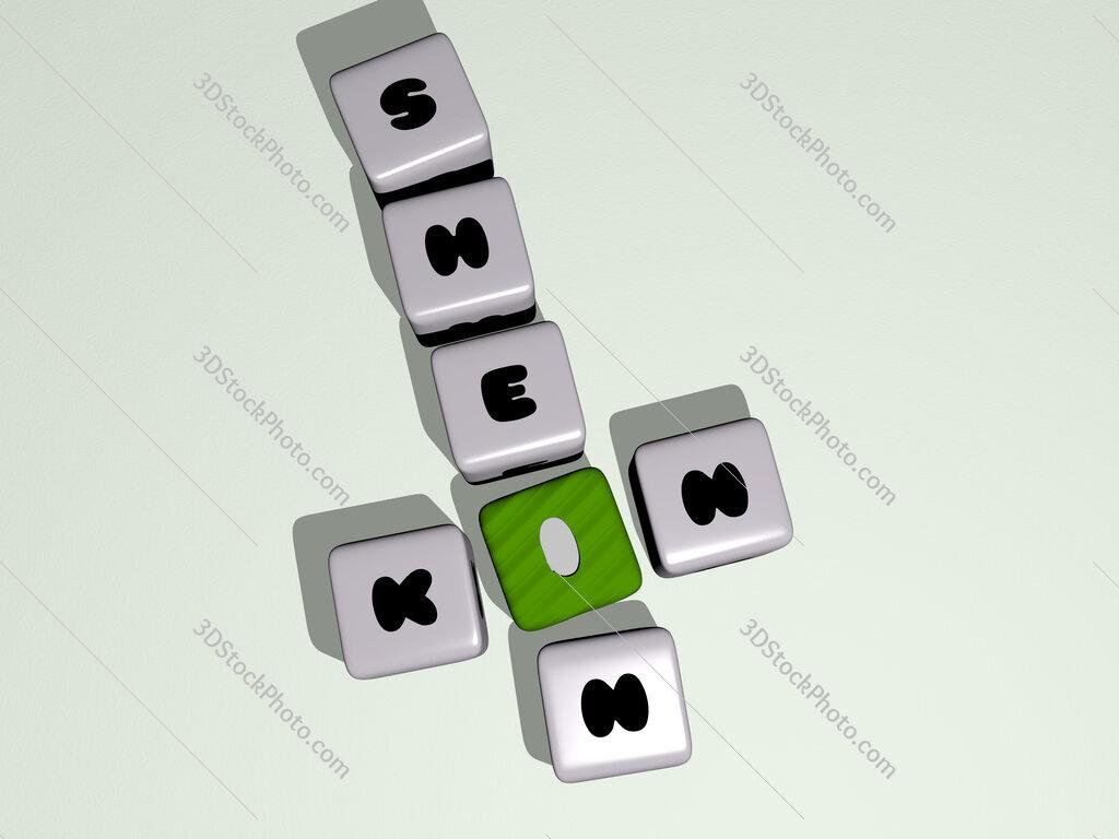 Kin Shein crossword by cubic dice letters