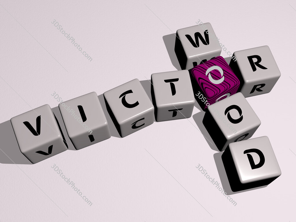 Victor Wood crossword by cubic dice letters