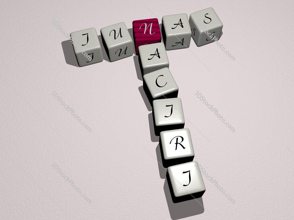 Junas Naciri crossword by cubic dice letters