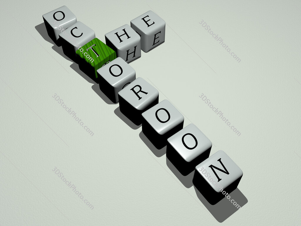 The Octoroon crossword by cubic dice letters