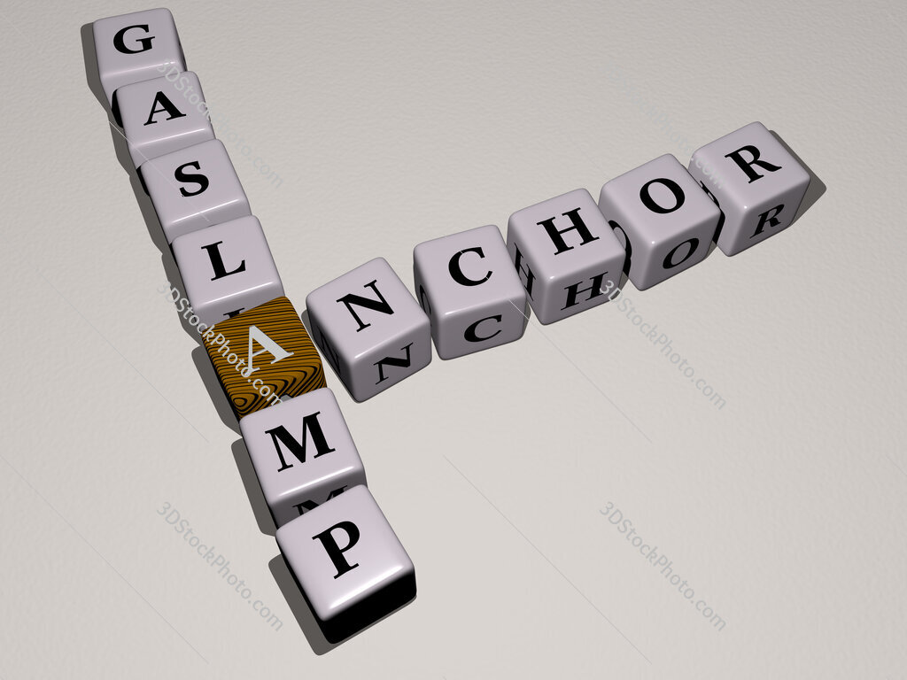 Anchor Gaslamp crossword by cubic dice letters
