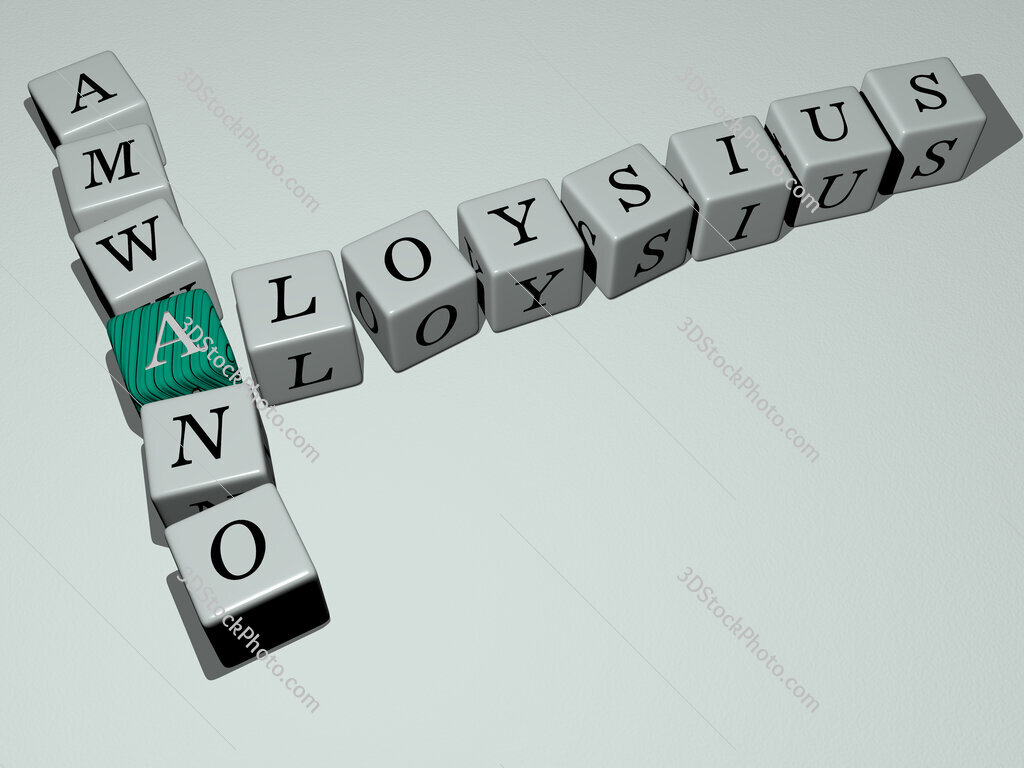 Aloysius Amwano crossword by cubic dice letters
