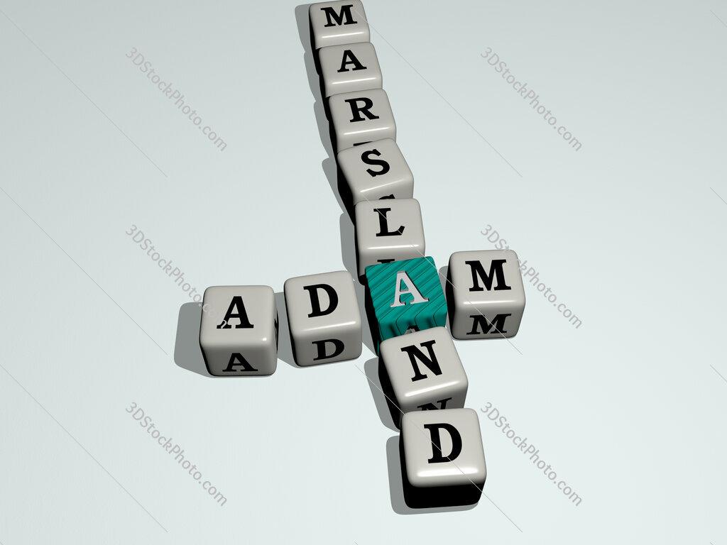 Adam Marsland crossword by cubic dice letters
