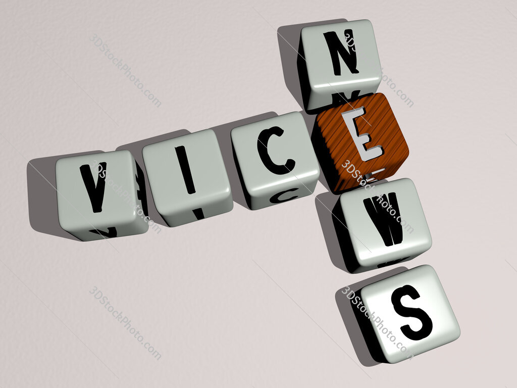 Vice News crossword by cubic dice letters
